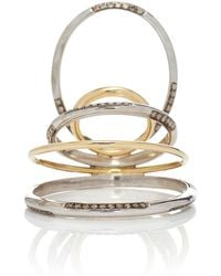 Gaelle Khouri - Twisted Parallel 18k Gold And Sterling Silver Ring - Lyst