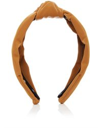 Lele Sadoughi Knotted Vinyl Headband - Brown