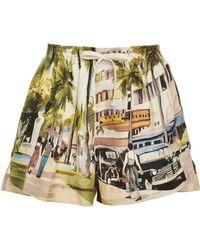 Monse - Scenic Print Shorts - Lyst