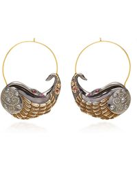 Sylvie Corbelin - One-of-a-kind Large Swan Hoops - Lyst