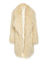 Michael Kors Faux Fur Coat - Natural