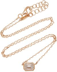 AS29 Illusion 18k Rose Gold Diamond Necklace - Pink
