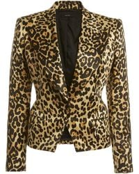 Tom Ford New Olympia Leopard-print Cotton-blend Jacket - Brown