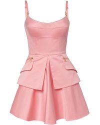 Brandon Maxwell - Bustier Cotton Mini Dress - Lyst