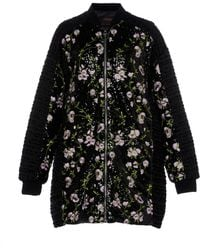 Giambattista Valli - Oversized Sequin Embroidered Coat With Floral Appliques - Lyst