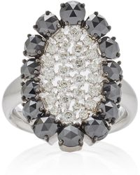 Sutra - Scintilliae Black And White Diamond Ring - Lyst