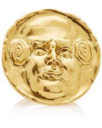 Oscar de la Renta Embossed Gold-tone Ring - Metallic