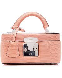 Stalvey Exclusive Mini Lizard Beauty Case - Pink