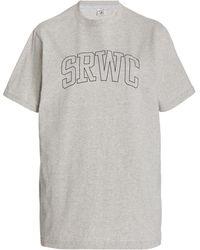 Sporty & Rich - Princeton Cotton-jersey T-shirt - Lyst