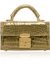 Stalvey - 24k Gold Crocodile Mini Top Handle 2.0 Bag - Lyst