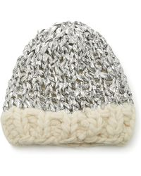 Yestadt Millinery - Mylar Metallic Wool Beanie - Lyst