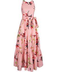 LaDoubleJ Pellicano Americano Cotton Maxi Dress - Pink