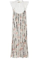 byTiMo - Printed Broderie-anglaise Chiffon Midi Dress - Lyst