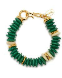 Lizzie Fortunato Candy Bead Bracelet - Green