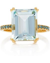 Yi Collection - 18k Aquamarine And Blue Diamond Ring - Lyst