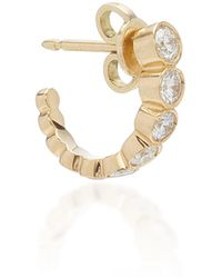 Sophie Bille Brahe Boucle Ensemble 18k Gold Diamond Hoop Earring - Metallic
