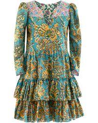 Alix Of Bohemia Squashblossom Print Dress - Blue