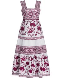 Alexis Verity Embroidered Linen Midi Dress - Pink