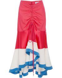 70b7d36675 Prabal Gurung Flower Jacquard Pencil Skirt in Blue - Lyst
