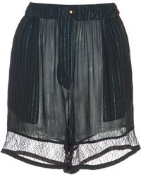 Elie Saab - Georgette Shorts With Lace Trim - Lyst