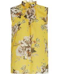 Erdem Ralph Sleeveless Floral Top - Yellow