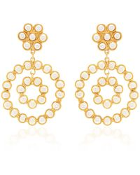 Sylvia Toledano Flower Candies Pearl Earrings - White