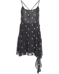 RE/DONE 80s Printed Silk Dress - Black