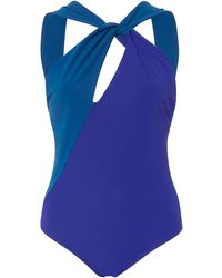 Araks Venetia Single Shoulder Open Back Swimsuit - Blue
