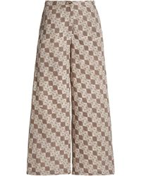 Ciao Lucia Orlando Printed Cotton Wide-leg Pants - Multicolour