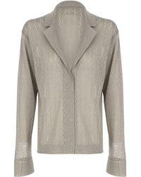 Zeynep Arcay Vintage Pointelle Knit Shirt - Grey