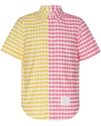 Thom Browne Bicolor Straight Fit S/s Button Down
