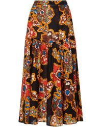 Warm - Path Floral Skirt - Lyst