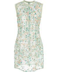 J. Mendel - Embroidered Organza Sleeveless Mini Dress - Lyst