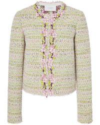 Giambattista Valli - Floral-embellished Tweed Jacket - Lyst