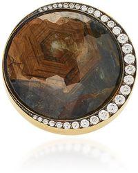Sylva & Cie - 18k Gold, Sapphire And Diamond Ring - Lyst