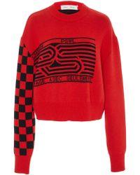 Proenza Schouler - Printed Wool-blend Jumper - Lyst
