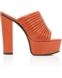 Givenchy Leather Platform Sandals - Red