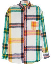 The Elder Statesman Tartan Woven Button-up Shirt - Multicolour