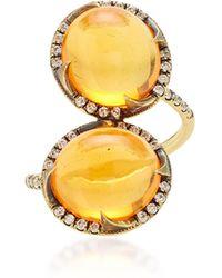 Sylva & Cie - 18k Gold, Opal And Diamond Ring - Lyst