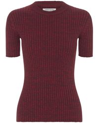 Anna Quan Bebe Ribbed Cotton Top - Red