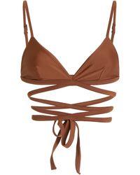Matteau Wrap Triangle Top - Brown