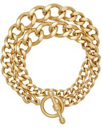 Brinker & Eliza Heavy Metal 24k Gold-plated Chain Wrap Bracelet - Metallic