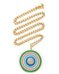 Sig Ward 18k Gold, Enamel And Opal Necklace - Metallic