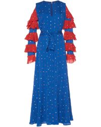 DHELA - Embroidered Flowers Dress - Lyst