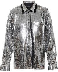 ANOUKI Double Collar Disco Shirt - Metallic