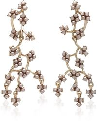 Lulu Frost Jackie Gold-plated Crystal Earrings - White