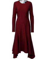 ANOUKI - Asymmetric Godet Dress - Lyst