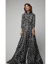 Carolina Herrera - Silk Polka-dot Trench Gown - Lyst