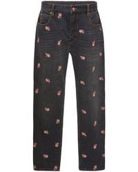 Étoile Isabel Marant - Cliffy Embroidered High-waist Slim-leg Jeans - Lyst