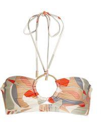 Cult Gaia Myra Printed Bikini Top - Multicolour